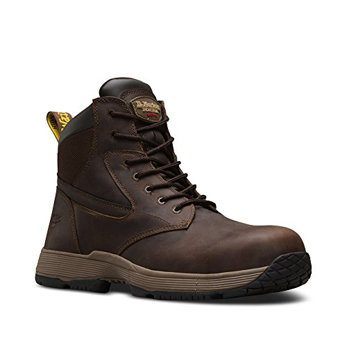 Martens Unisex Safety Boots - Dr. Martens Work Unisex Corvid SD Non-Metallic Composite Toe 7-Eye Boot Gaucho Connection 8 M UK