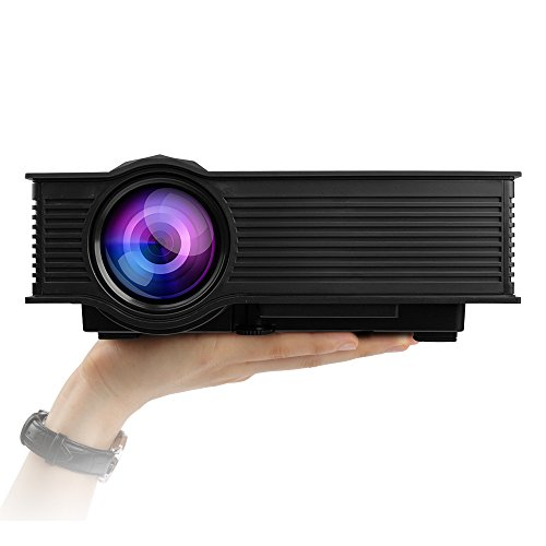 Mileagea LED Projector Mini Portable Multimedia 1080P Full HD Wifi Wireless Home Theater With IP IR USB SD HDMI