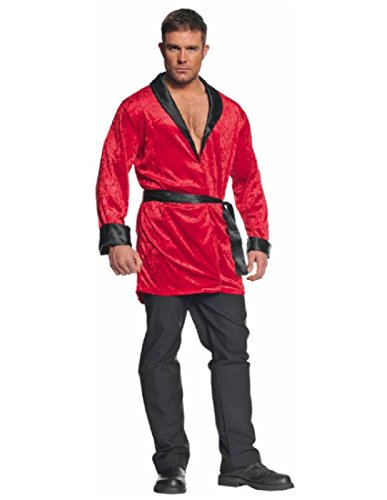 Underwraps Men's Smoking Jacket, Red/Black, One -