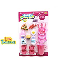 Little Treasures Meal Time Pretend Play Food Kitchen Toy Set