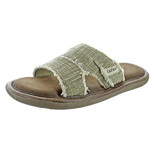 Crevo Cory Men's Hemp Memory Foam Slide Sandals Beige Size 9