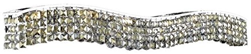Dakota Chrome Traditional 10-Light Vanity Fixture Heirloom Handcut Crystal in Golden Teak -1735W44C-GT-RC--44