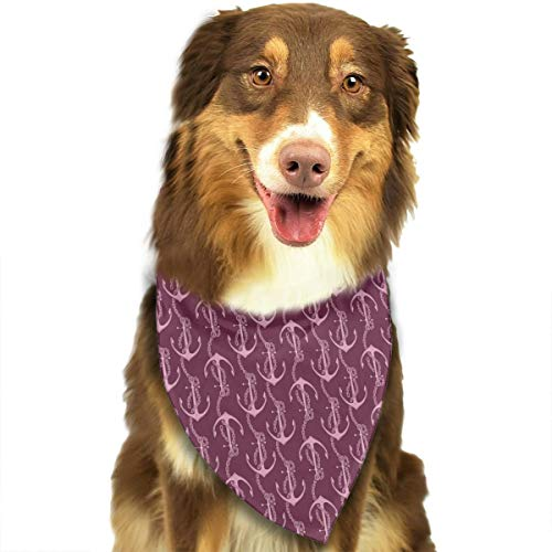 (Adjustable Dog Bandanas Fueniture Anchor Neckerchief For Small Medium Dogs Cats Pets)