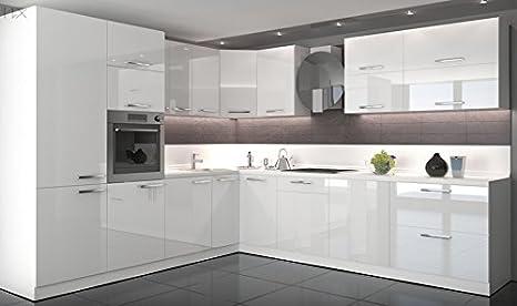 Küche L Form Hochglanz 280 cm x 300 cm ohne E-Geräten ...