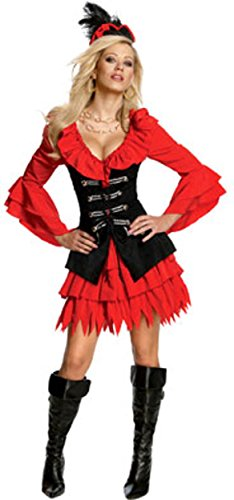 Treasure Chest Halloween Costume (Secret Wishes Women's Sexy Pirate Treasure Chest Costume, Multicolor,)