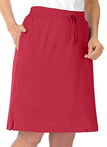 AmeriMark Knit Skort Petite Red ()