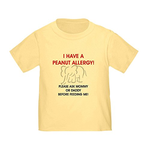 CafePress Peanut Allergy Don't Feed Me Toddler T Shir Cute Toddler T-Shirt, 100% Cotton Daffodil Yellow