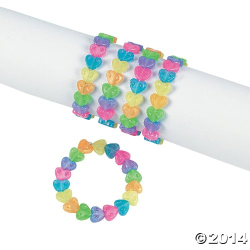 Fun Express Plastic Rainbow Bracelets