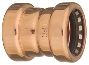 elkhart products 10170710 Copperloc 900, 1 -Inch Copper x 1 -Inch Copper, Coupling With Stop