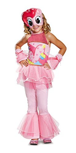 My Little Pony Pinkie Pie Costume (Pinkie Pie Movie Deluxe Costume, Pink, Small (4-6X))