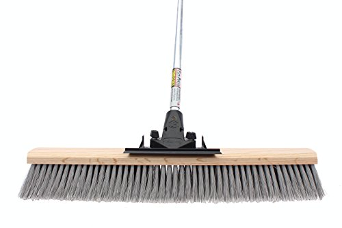 FlexSweep Flex-Power Unbreakable Commercial Push Broom (Contractors 24 Inch) Medium Bristles Multi ()