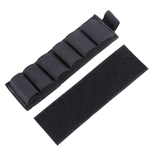 Yosoo Nylon Shotgun Ammo Holder with Adhesive Backing Strip 6 Rounds, Black