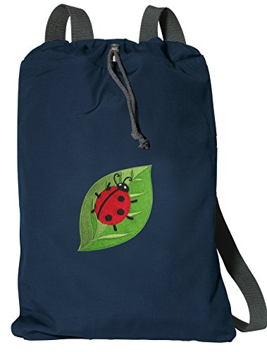 - Ladybug Drawstring Backpack RICH COTTON Ladybugs Cinch Bag
