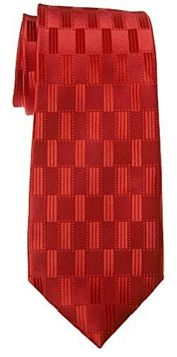 Neckties By Scott Allan - Red Geometric Men's Tie