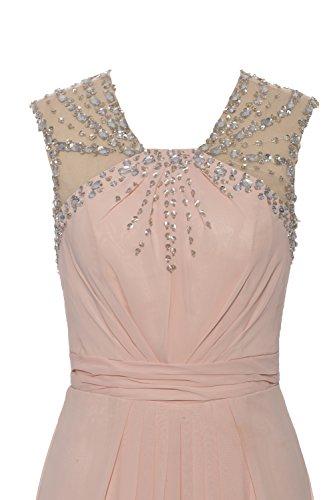 YiYaDawn -  Vestito  - linea ad a - Donna rosa chiaro 44
