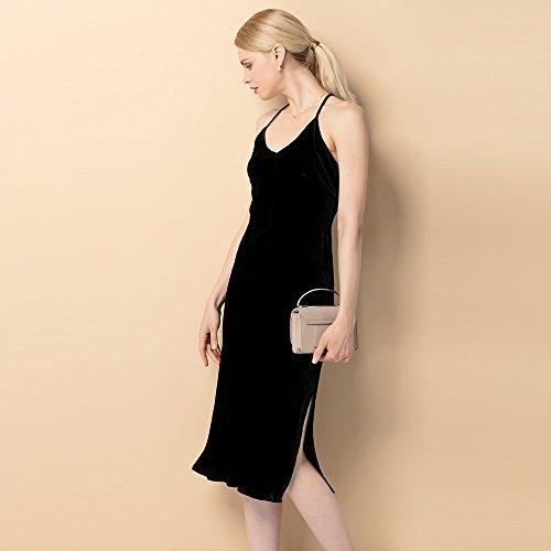 Silk Sleeveless Evening Black Hot Silk for Dress Spaghetti Dress LilySilk Strap Super Party Women pwBw1q