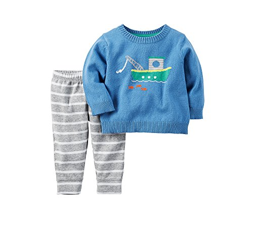 Tugboat Set - Carter's Baby Boys' 2-Piece Tugboat Sweater and Pants Set 6 Months