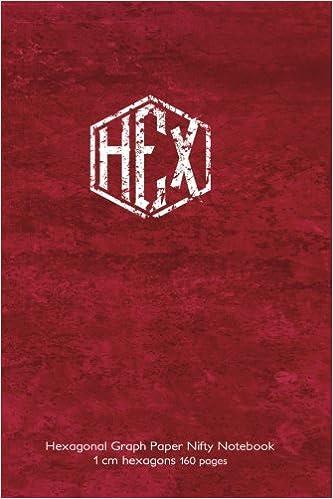hexagonal graph paper nifty notebook 1 cm hexagons 160 pages 6 x9