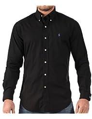 Polo Ralph Lauren Solidpop2 Black Big & Tall Men's Long Sleeve Button Down Shirt