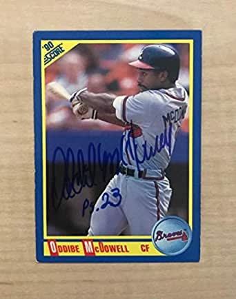 Amazon.com: ODDIBE MCDOWELL ATLANTA BRAVES SIGNED