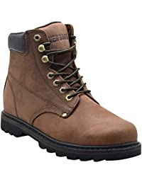 """Tank Men's Soft Toe Oil Full Grain Leather Work Boots Construction Rubber Sole"