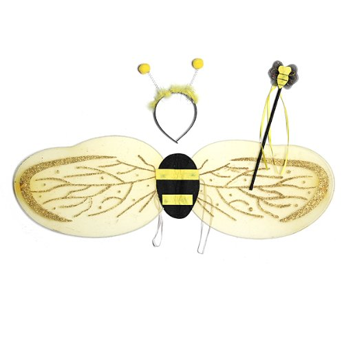 3 Pcs Child Bumble Bee Wings Props Halloween Party Stage Photo