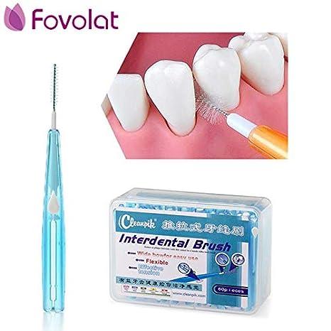 Portal Cool 60 Unids Nuevo Cepillo interdental Salud Cepillo dental Diente dental Caja Cuidado de dientes