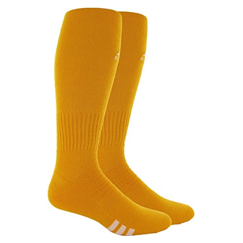 adidas Unisex Rivalry Field 2-Pack Otc sock, Collegiate Gold/White,