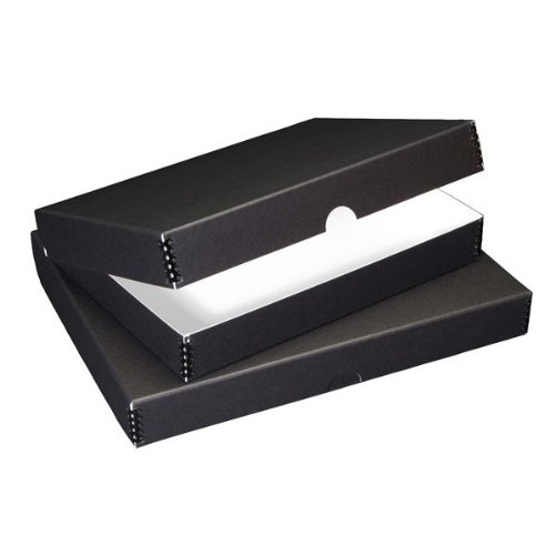 Lineco Archival Clamshell Folio Storage Box 16x20 Size Black Color by Lineco