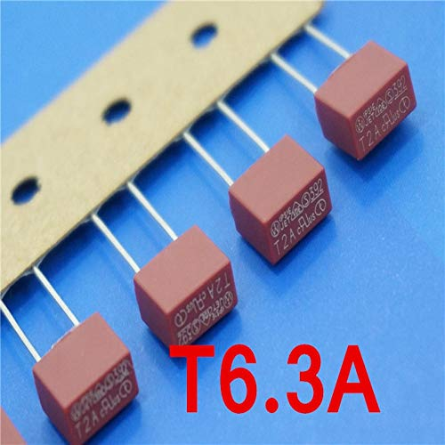 Davitu (1000 pcs/lot) T6.3A 250V TE5 Slow Blow Subminiature Fuse, UL VDE RoHS Approved, 6.3A, 6.3Amp.
