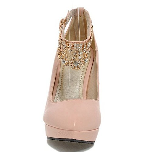 Pink High Shoes LongFengMa Party Ankle Footwear Classic Women Pumps Female Strap Fashion Heel Ladies Platform wqqB465