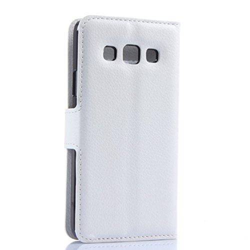 Funda Samsung Galaxy A3(2015),Manyip Caja del teléfono del cuero,Protector de Pantalla de Slim Case Estilo Billetera con Ranuras para Tarjetas, Soporte Plegable, Cierre Magnético(JFC8-8) F