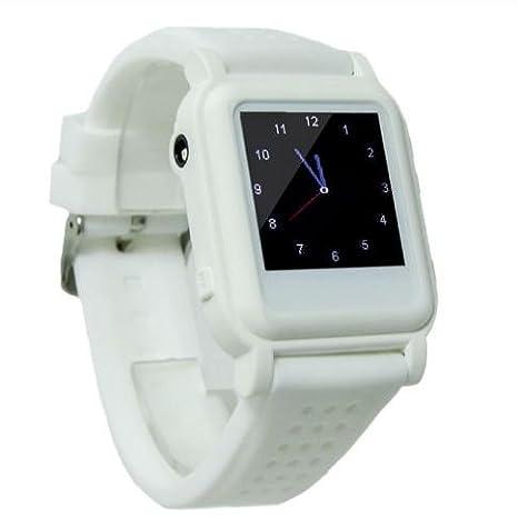 3a71679b49bc Reloj chuleta electrónico con botón de emergencia (Blanco)  Amazon ...