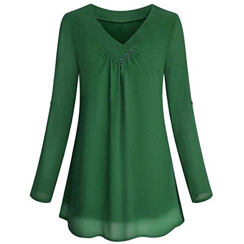 [S-XL] レディース Tシャツ シフォン ボタン 無地 長袖 トップス おしゃれ ゆったり カジュアル 人気 高品質 快適 薄手 ホット製品 通勤 通学