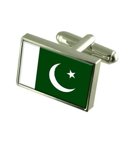 Pakistan Boutons de manchette drapeau avec select pochette cadeaux