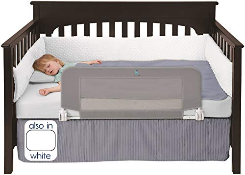 - hiccapop Convertible Crib Toddler Bed Rail Guard with Reinforced Anchor Safety