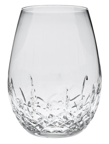 Waterford Lismore Nouveau Stemless Deep Red Wine Pair (Stemless Crystal Wine Glasses)