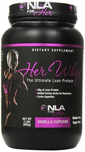 NLA for Her Her Whey - Protein Vanilla Cupcake - 2 lbs (905g) by NLA For Her