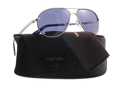 Tom Ford FT0144 Marko Sunglasses 18V Shiny Rhodium (Sol Sonnenbrillen)