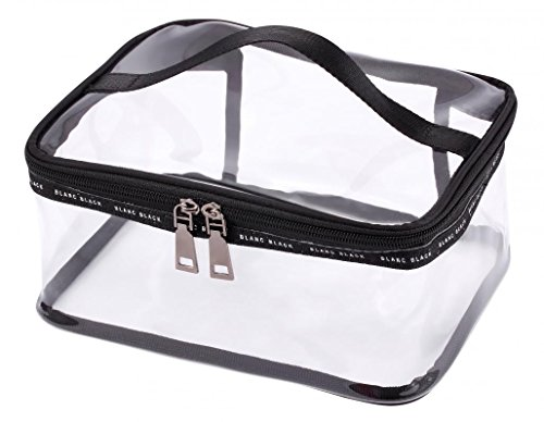 WODISON Clear Travel Cosmetic Bag Makeup Train Case Organizer with Top Handle