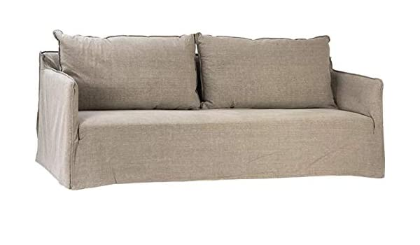 Amazon.com: Sofa Dovetail Collins Gray Birch Wood Linen ...