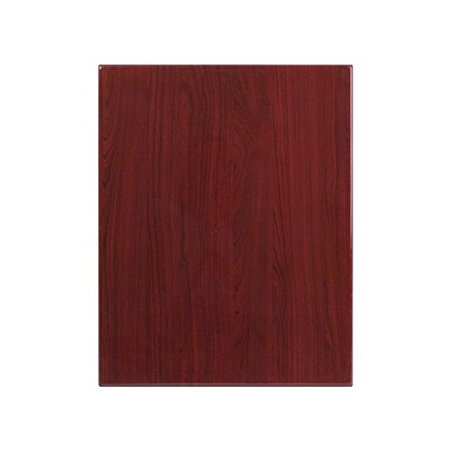 Flash Furniture 24'' x 30'' High-Gloss Mahogany Resin Table Top with 2'' Thick Drop-Lip by Flash Furniture