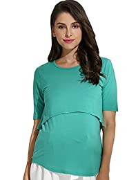 Sweet Mommy Maternity and Nursing Bamboo Layered Top
