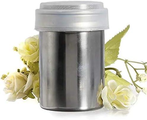 調味料入れ ステンレス鋼のチョコレートココパウダー調味料シェーカー調味料ボックス スパイス容器 (Color : Silver, Size : 2 inch)