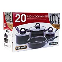 Non-stick Cookware Sets, 20 Pc. by Todays Home Housewares Inc