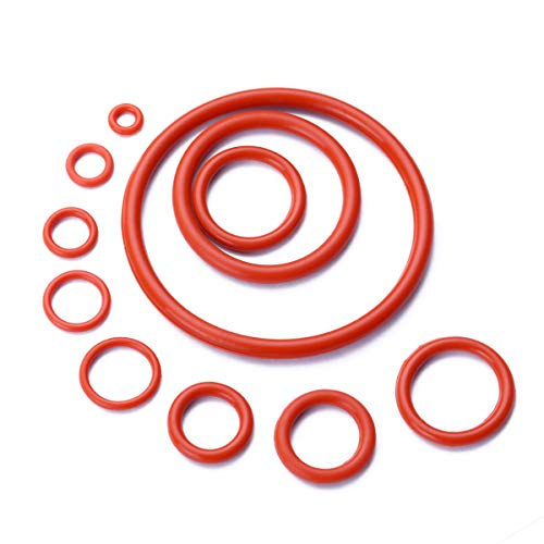 Red O-ring - Litorange 580PCS Silicone 45A Universal Red O-Ring Sealing Gasket Washer Seal Assortment Set (Better than Rubber) for Plumbing,Automotive,General Repair 15 Size with Case