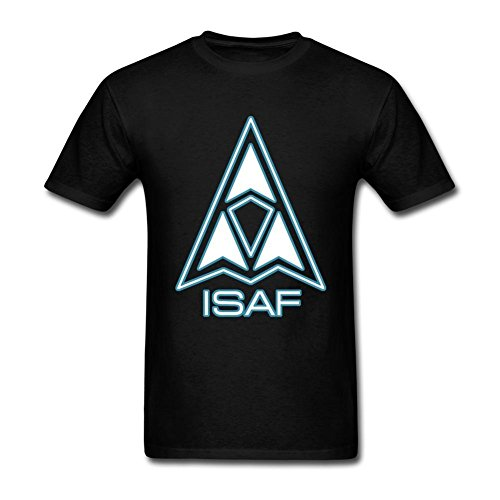 JuDian Ace Combat Logo ISAF T Shirt For Men M (Ace And Gary)