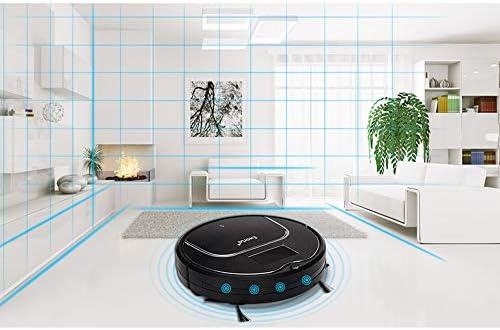 DUKKL Robot Balayant La Maison Intelligente Aspiration Automatique Balayant Un Cadeau Conception Muette Une Touche, Aspiration sous Vide, Technologie Anti-enroulement