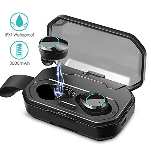Wireless Earbuds, Touch Control TWS Bluetooth 5.0 Stereo Hi-Fi Sound IPX7 Waterproof Earbuds with 3000mAh Charging Case, Noise Cancelling Wireless Headphones