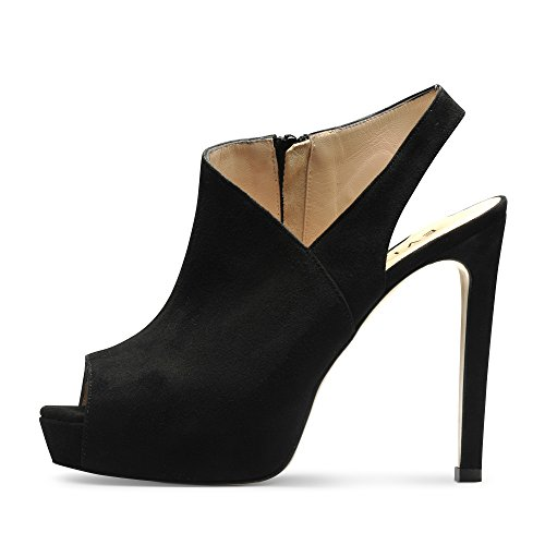 Daim Noir Beppina Femme Sandales 40 W0qWYZF